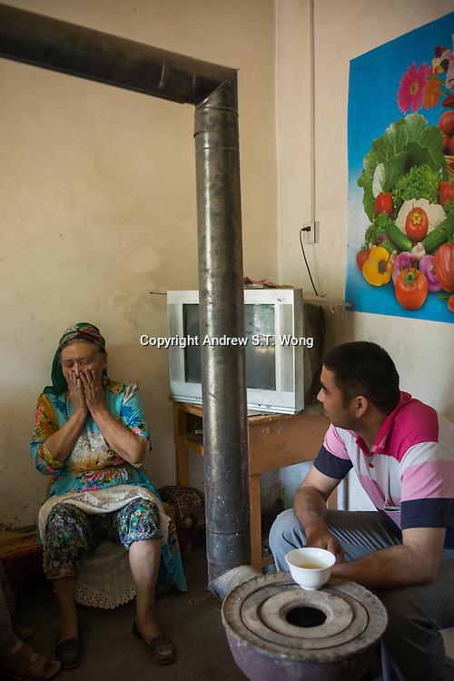 Kashi, Xinjiang Province, May 2014 - Tea house