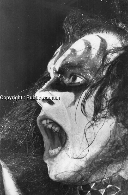 Kiss Bass player Gene Simmons. <br /> <br /> Griffin, Doug<br /> Picture, 1976
