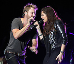 Charles Kelley and Hillary Scott of Lady Antebellum perform at Harveys Lake Tahoe in Stateline, Nev., on Friday, July 29, 2011. .Photo by Cathleen Allison