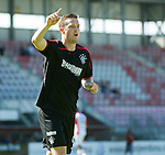 Jon Daly celebrates his debut goal for Rangers