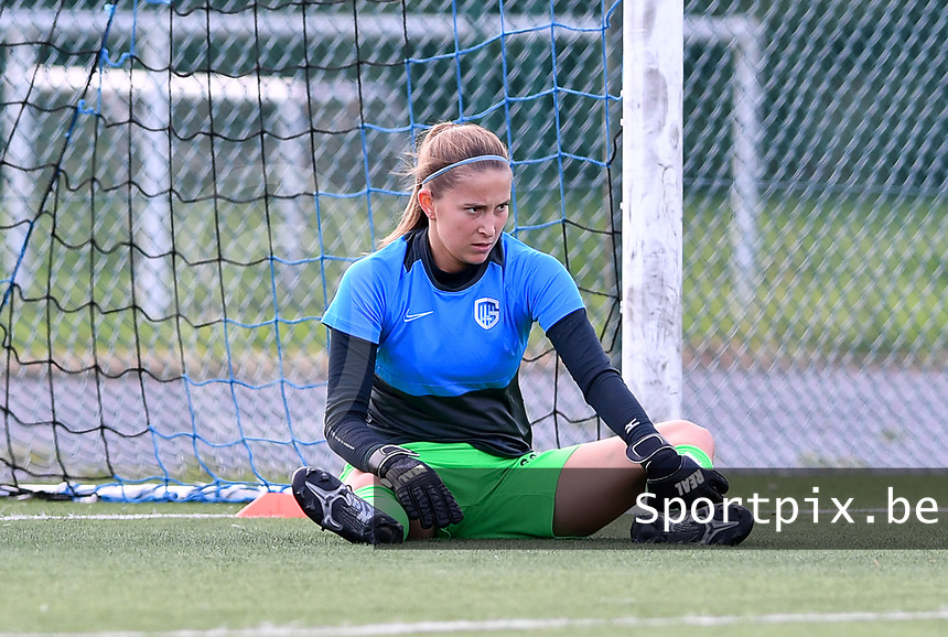 goalkeeper Josephine Delvaux of Racing Genk pictured during a female soccer game between Club Brugge Dames YLA and Racing Genk Ladies on the second matchday of the 2020 - 2021 season of Belgian Scooore Women s SuperLeague , saturday 5 th of September 2020  in Brugge , Belgium . PHOTO SPORTPIX.BE   SPP   DAVID CATRY