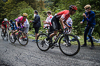 Naïro Quintana (COL/Arkea-Samsic), Rigoberto Uran (COL/EF Pro Cycling) and Guillaume Martin (FRA/Cofidis) up the Col de Marie Blanque<br /> <br /> Stage 9 from Pau to Laruns 153km<br /> 107th Tour de France 2020 (2.UWT)<br /> (the 'postponed edition' held in september)<br /> ©kramon