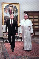 Pope Francis meeting: Russian President Vladimir Putin. Croatia's .Bosnian.Minister November 25,2013