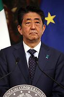 S.E. Shinzo Abe <br /> Rome April 24th 2019. Palazzo Chigi. Italian Prime Minister meets the Prime Minister of Japan.<br /> Photo di Insidefoto