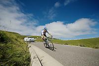 Michael Albasini (SUI/Orica-GreenEDGE) descending the Port de Balès<br /> <br /> 2014 Tour de France<br /> stage 16: Carcassonne - Bagnères-de-Luchon (237km)