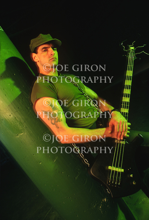 Portrait session with musician, Pete Steele, bass player with the goth, rock band, Type O Negative.