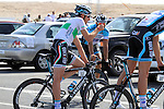 Omega Pharma-Quick Step team rider and Irish Champion Matt Brammeier warms up before the 2nd Stage of the 2012 Tour of Qatar a team tme trial at Lusail Circuit, Doha, Qatar, 6th February 2012 (Photo Eoin Clarke/Newsfile)