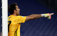 Juventus' goalkeeper Gianluigi Buffon gestures during the Italian Cup football final match between Napoli and Juventus at Rome's Olympic stadium, June 17, 2020. Napoli won 4-2 at the end of a penalty shootout following a scoreless draw.<br /> UPDATE IMAGES PRESS/Isabella Bonotto