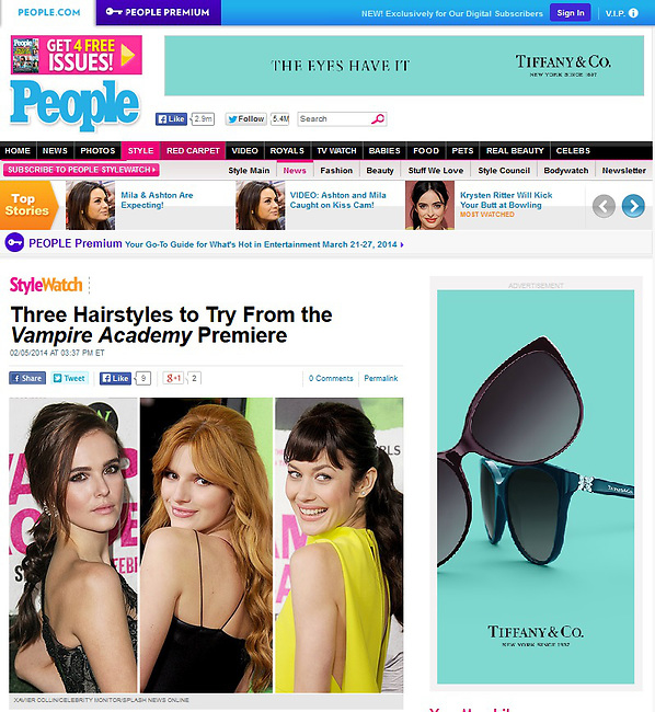 """LOS ANGELES, CA - FEBRUARY 04: Zoey Deutch, Bella Thorne and Olga Kurylenko at the Los Angeles Premiere Of The Weinstein Company's """"Vampire Academy"""" held at Regal Cinemas L.A. Live on February 4, 2014 in Los Angeles, California. (Photo by Xavier Collin/Celebrity Monitor)"""