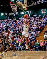 18 December 2019: University of Vermont Catamount Forward Anthony Lamb, a Senior from Rochester, NY, in second half action against the UNC Greensboro Spartans at Patrick Gymnasium in Burlington, Vermont. The Spartans edged out the Catamounts 54-53 in the final minutes of play. Mandatory Credit: Ed Wolfstein Photo *** RAW (NEF) Image File Available ***