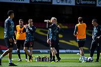 24th April 2021; Vicarage Road, Watford, Hertfordshire, England; English Football League Championship Football, Watford versus Millwall; Will Hughes of Watford takes a drink during the warm up.