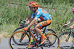 Race leader Davide Rebellin (ITA) CCC Sprandi Polkowice during Stage 6 of the 2015 Presidential Tour of Turkey running 184km from Denizli to Selcuk. 30th April 2015.<br /> Photo: Tour of Turkey/Mario Stiehl/www.newsfile.ie