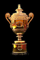 The Men's trophy presented to the winner of The Gentlemen's Singles at Wimbledon, The All England Lawn Tennis Club (AELTC), London.