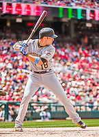 21 June 2015: Pittsburgh Pirates infielder Neil Walker in action against the Washington Nationals at Nationals Park in Washington, DC. The Nationals defeated the Pirates 9-2 to sweep their 3-game weekend series, and improve their record to 37-33. Mandatory Credit: Ed Wolfstein Photo *** RAW (NEF) Image File Available ***