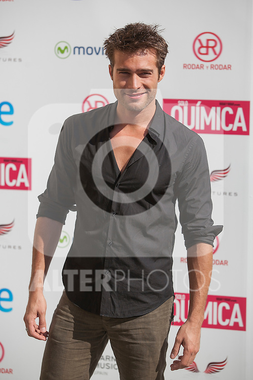 Rodrigo Guirao poses during the `Solo quimica´ film presentation in Madrid, Spain. July 14, 2015. (ALTERPHOTOS/Victor Blanco)