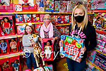 The staff of Toys Upstairs at Kellihers launch theirSt Vincent de Paul Christmas Toys Appeal in the shop on Monday.  Sharon Teahan (Manager, Toys Upstairs Kellihers). Back l to r: Caragh Kelliher and Marion Moore (St Vincent de Paul)
