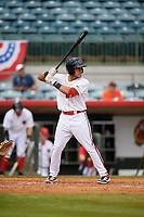Florida Fire Frogs Rusber Estrada (12) at bat during a Florida State League game against the Jupiter Hammerheads on April 8, 2019 at Osceola County Stadium in Kissimmee, Florida.  Florida defeated Jupiter 7-6 in ten innings.  (Mike Janes/Four Seam Images)