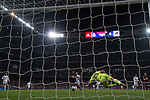 Goalkeeper Marco Dmitrovic of SD Eibar fails to save the ball shot by Marcelo Vieira Da Silva of Real Madrid during the La Liga 2017-18 match between Real Madrid and SD Eibar at Estadio Santiago Bernabeu on 22 October 2017 in Madrid, Spain. Photo by Diego Gonzalez / Power Sport Images