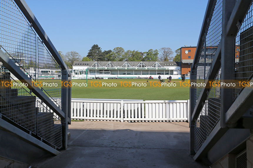 General view of the ground ahead of Day Four of Worcestershire CCC vs Essex CCC, LV Insurance County Championship Group 1 Cricket at New Road on 2nd May 2021