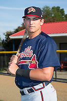 Danville Braves third baseman Austin Riley (13) poses for a photo prior to the game against the Burlington Royals at Burlington Athletic Park on August 13, 2015 in Burlington, North Carolina.  The Braves defeated the Royals 6-3. (Brian Westerholt/Four Seam Images)