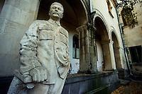 Gori/Georgia 9-2008.<br /> Museo dedicato alla memoria di Joseph Stalin. Nella fotografia una statua del leader georgiano.Museum dedicated to the memory of Joseph Stalin.<br /> Photo Livio Senigalliesi