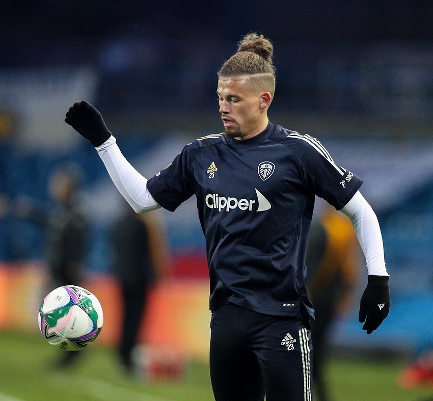 Leeds United's Kalvin Phillips warms up before the match<br /> <br /> Photographer Alex Dodd/CameraSport<br /> <br /> Carabao Cup Second Round Northern Section - Leeds United v Hull City -  Wednesday 16th September 2020 - Elland Road - Leeds<br />  <br /> World Copyright © 2020 CameraSport. All rights reserved. 43 Linden Ave. Countesthorpe. Leicester. England. LE8 5PG - Tel: +44 (0) 116 277 4147 - admin@camerasport.com - www.camerasport.com