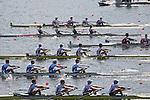 Rowing, United States Men's Lightweight Four, Anthony Fahden, Nick Lacava, Ryan Fox, William Daly, stroke, US national rowing team, heat, Monday 1 November, 2010 FISA World Rowing Championships, Lake Karapiro, Karapiro, Hamilton, New Zealand,