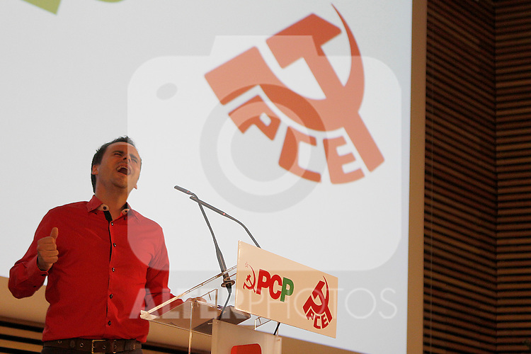 Flamenco singer Juan Pinilla during public act of the general secretaries PCE and PCP, Madrid 22 junio 2012.(ALTERPHOTOS/ARNEDO)