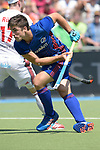 GER - Mannheim, Germany, May 28: During the men final match between Rot-Weiss Koeln and Mannheimer HC at the Final4 tournament May 28, 2017 at Am Neckarkanal in Mannheim, Germany. (Photo by Dirk Markgraf / www.265-images.com) *** Local caption ***