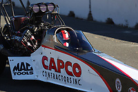 Jul 29, 2017; Sonoma, CA, USA; NHRA top fuel driver Steve Torrence during qualifying for the Sonoma Nationals at Sonoma Raceway. Mandatory Credit: Mark J. Rebilas-USA TODAY Sports