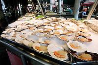 Frutti di mare al mercato del pesce a Rialto, Venezia.<br /> Sea fruits on sale at Rialto fish markets, in Venice.<br /> UPDATE IMAGES PRESS/Riccardo De Luca