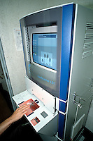 Livescan fingerprinting system. This is a biometric system that works by scanning the hand and producing a computer scanned digital handprint. This image may only be used to portray the subject in a positive manner..©shoutpictures.com..john@shoutpictures.com