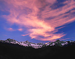 Sneffels Range in spring at sunset, Telluride, Colorado, USA. John guides custom photo tours in the Sneffels Range and throughout Colorado.