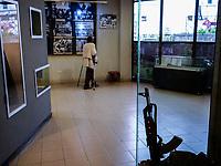ETHIOPIA , Addis Ababa, Red Terror Martyrs Memorial Museum, exhibition about the communist DERG time under dictator Mengistu Haile Mariam / AETHIOPIEN, Addis Abeba, Red Terror Martyrs Memorial Museum, Ausstellung ueber die kommunistische Derg Zeit unter Diktator Mengistu Haile Mariam