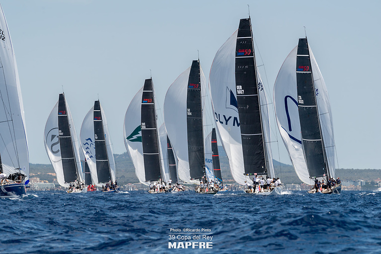 Swan 50 racing in the Bay of Palma Photo: Ricardo Pinto