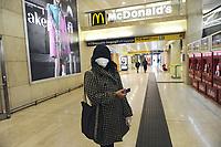 - Milano, 8 marzo 2020, la Stazione Centrale di Milano semideserta dopo il decreto governativo che isola gran parte del nord Italia per fermare l'epidemia di CoronaVirus 19<br /> <br /> - Milan, 8 March 2020, Milan Central Station semi-deserted after the government decree isolating much of northern Italy to stop the CoronaVirus 19 epidemic
