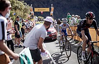 Julian Alaphilippe (FRA/Deceuninck-QuickStep) up the Puy Mary (uphill finish)<br /> <br /> Stage 13 from Châtel-Guyon to Pas de Peyrol (Le Puy Mary) (192km)<br /> <br /> 107th Tour de France 2020 (2.UWT)<br /> (the 'postponed edition' held in september)<br /> <br /> ©kramon