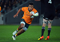 Australia's Brandon Paenga-Amosa in action during the Bledisloe Cup rugby match between the New Zealand All Blacks and Australia Wallabies at Eden Park in Auckland, New Zealand on Saturday, 7 August 2021. Photo: Dave Lintott / lintottphoto.co.nz