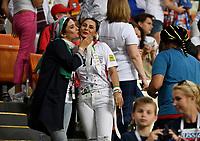 SARANSK - RUSIA, 25-06-2018: Hinchas de RI de Irán animan a su equipo durante partido de la primera fase, Grupo B, entre RI de Irán y Portugal por la Copa Mundial de la FIFA Rusia 2018 jugado en el estadio Mordovia Arena en Saransk, Rusia. / Fans of IR Iran cheer for their team during the match between IR Iran and Portugal of the first phase, Group B, for the FIFA World Cup Russia 2018 played at Mordovia Arena stadium in Saransk, Russia. Photo: VizzorImage / Julian Medina / Cont