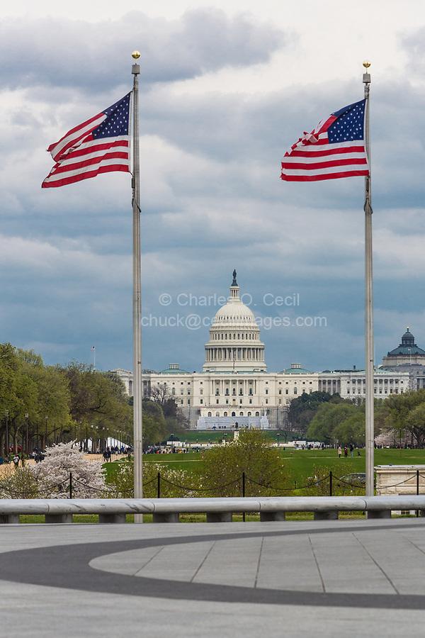Washington, DC.  U.S. Capitol Building, View from the Washington Monument.