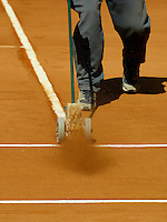 20040407, Spain, Mallorca, tennis, Daviscup, Spain-Netherlands, training