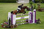 August 09, 2009: Piergiorgio Bucci (ITA) aboard Kanebo competing in the Grand Prix event. Longines International Grand Prix. Failte Ireland Horse Show. The RDS, Dublin, Ireland.