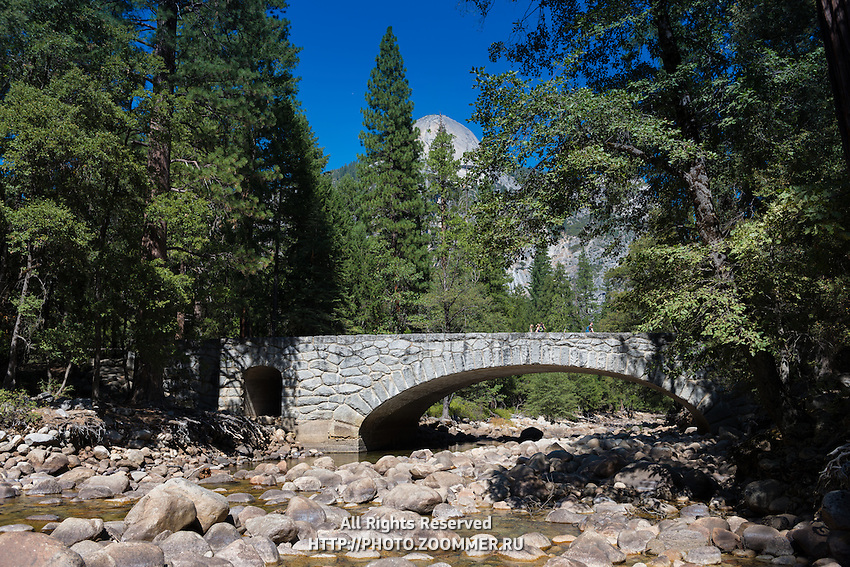 Yosemite valley creek bridge, Yosemite national park, California, USA