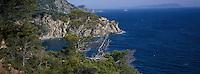 Europe/Provence-Alpes-Côte d'Azur/83/Var/Iles d'hyères/Ile de Porquerolles: Grand Cale Ouest et côte rocheuse