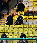 03.03.2021 Livingston v Rangers: Steven Gerrard with analyst Scott Mason in the stand