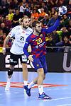 VELUX EHF 2019/20 EHF Men's Champions League Group Phase - Round 8.<br /> FC Barcelona vs Aalborg Handbold: 44-35.<br /> Aleix Gomez.