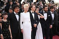 AHN SEO-HYUN, DIRECTOR BONG JOON-HO, TILDA SWINTON, PAUL DANO, LILY COLLINS, JAKE GYLLENHAAL AND DEVON BOSTICK - RED CARPET OF THE FILM 'OKJA' AT THE 70TH FESTIVAL OF CANNES 2017