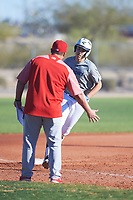 Joseph Scalzo (54), from Boise, Idaho, while playing for the Tigers during the Under Armour Baseball Factory Recruiting Classic at Red Mountain Baseball Complex on December 28, 2017 in Mesa, Arizona. (Zachary Lucy/Four Seam Images)