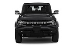 Car photography straight front view of a 2021 Ford Bronco Outer-Banks 5 Door SUV Front View