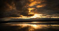 Okarito Lagoon sunrise, Westland Tai Poutini National Park, West Coast, UNESCO World Heritage Area, South Westland, New Zealand, NZ